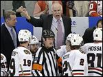 Chicago coach Joel Quenneville is 0-5 in postseason series against Detroit. Three of those series defeats came while with St. Louis.
