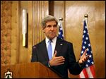 "Secretary of State John Kerry says the United States and its Arab and European allies will step up their support for Syria's opposition to help them ""fight for the freedom of their country"" if President Bashar Assad's regime doesn't engage in peace talks in good faith."