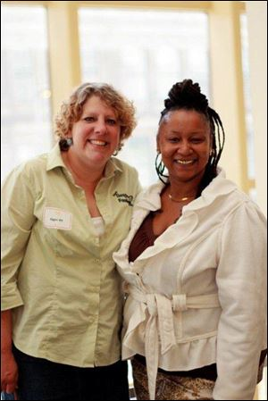 Former FOCUS client Cheri Dennis and friend Aggie Alt.