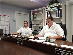 Paulding County Commissioners Tony Zartman, left, and Fred Pieper may face recall for dissolving the dog warden's office.