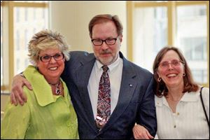 At the FOCUS Spring Luncheon are Diane Barnes, Bob Meeker, and Janice Moore.