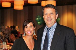 Amy Sanders, Springfield Schools Foundation secretary and True Blue To Do chairman, with Scott Steele, the foundation president.