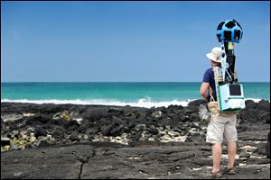Google sent hikers to the Galapagos with Street View gear called