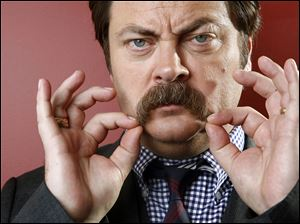 Actor Nick Offerman, who plays surly Ron Swanton on 'Parks and Recreation,' says he thinks his new film, opening Friday, will appeal to everyone.