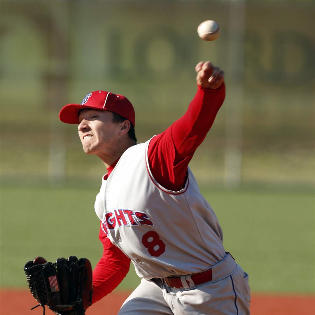 St-Francis-de-Sales-pitcher-Matt-Zmuda-8-pitches-against