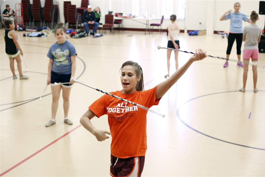 Instructor-Harley-Dale-of-Virginia-Tech-demonstrates-her-moves