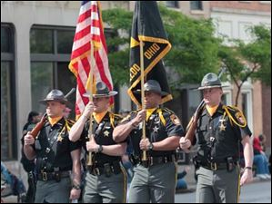 The Lucas County Sheriff department's honor guard.