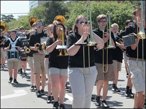 The Perrysburg H.S. band was one of the area schools represented in the parade.