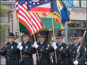 The Toledo Police Department's honor guard.