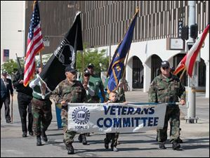 UAW Local 12's Veterans Committee was one of many civic groups in the parade.
