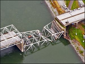 A section of the I-5 bridge over the Skagit River in Washington state collapsed on Thursday after a truck hit a girder. Across Ohio,  5,761 county-maintained bridges are considered functionally obsolete or deficient.