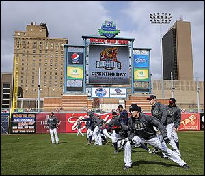 The Toledo Mud Hens did not pay sales tax on the purchase of a video board for Fifth Third Field, a move faulted by a state audit.