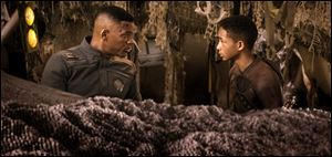 Will and Jaden Smith star in 'After Earth,' which opens Friday.