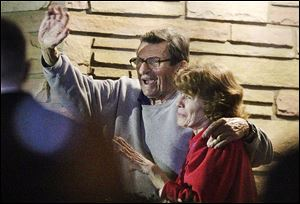 Joe Paterno and his, wife, Susan, thanked supporters on the day he was fired from Penn State in 2011. The Paterno family among others connected to Penn State has sued the NCAA, alleging they suffered from the sanctions imposed on the school.