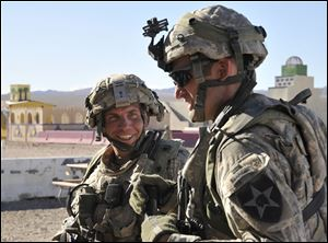 Defense attorneys say Staff Sgt. Robert Bales, left, who was on his fourth combat deployment, was suffering from post-traumatic stress disorder and a traumatic brain injury. He continued to blame the Army for sending him back to war in the first place.