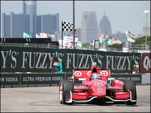 Scott Dixon turns during practice for the Detroit Grand Prix on Belle Isle. The race will feature IndyCar's first attempt at a pair of full-length races in one weekend.