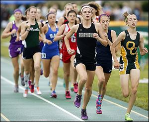 Courtney Clody of Perrysburg races to a victory in the
