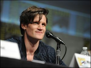 "Matt Smith speaks at the ""Doctor Who"" panel at Comic-Con in July, 2012."