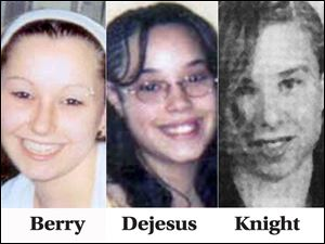 Undated photos of Amanda Berry, Gina Dejesus, and Michelle Knight, the Cleveland women who were held captive for more than a decade.