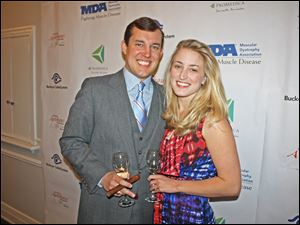 Dock Treece and his fiance Kiah Barrette at the MDA fund-raiser.
