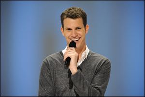 "SAN FRANCISCO, CA- JUNE 12: Comedian Daniel Tosh performs on Comedy Central's ""Daniel Tosh: Happy Thoughts"" at the Yerba Buena Center for the Arts, June 12, 2010 in San Francisco, California. (Photo by Phil McCarten/PictureGroup)."