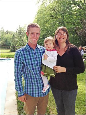 Josh Reibe and Laura Nilsson and their baby Julia at Allan and Susan Block's party.