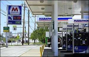 Gasoline is at $4.199 a gallon at the Marathon station at Woodville Road and Earl Street near I-280. About a week ago, prices in the $3.60s were common locally.