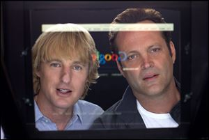Owen Wilson, left, and Vince Vaughn in a scene from