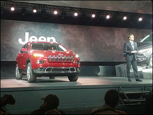 Area dealers say customer interest is intense in the 2014 Jeep Cherokee, shown at the New York Auto Show earlier this year.