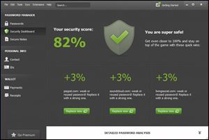 The Dashlane 2.0 security dashboard is not only a time-saver, it works in Safari, Chrome, Explorer, and Firefox.