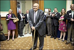 Rep. John Dingell begins his record-setting day on Capitol Hill.