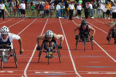 Liberty-Center-s-Robert-Burns-2nd-from-left-takes-3rd-in-the-historic-100-meter-dash-wheelchair-race
