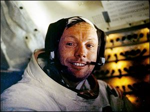 Neil Armstrong, shown in July 20, 1969, the first man on the moon, has