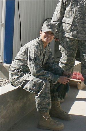 In 2010, Sylvia Geronimo-Costello, an Air Force aerospace medical technician, was at Camp Bastion in Afghanistan.