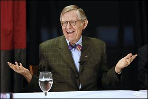 Ohio State President E. Gordon Gee discusses his decision to leave his post in July.