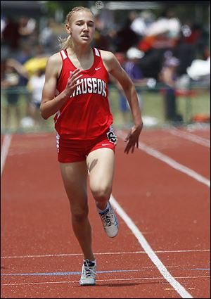 Wauseon's Seneca Wyse took third in the 400-meter dash Saturday.