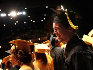 Northview graduate Michael Tidd smiles during the high school's commencement.