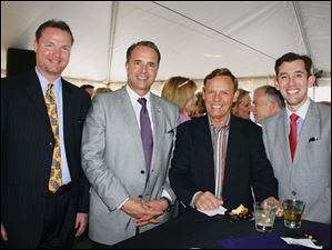 From left, Jason Perry, Paul Devers, Dock Treece and Junior Chair, Ben Treece attend the