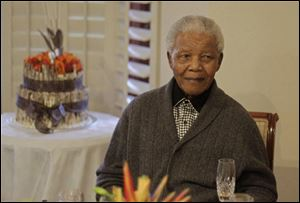 Former South African President Nelson Mandela was taken to a hospital Saturday to be treated for a recurrence of a lung infection.