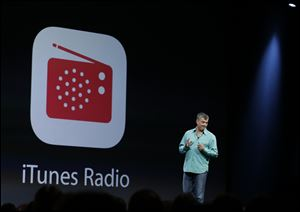 As expected, Apple unveiled an ad-supported music-streaming feature called iTunes Radio, as well as a new MacBook Air and an upgraded operating system for its Mac line of desktop and laptop computers.
