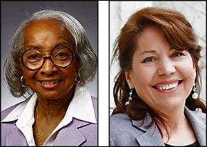 Theresa M. Gabriel, left, and Sandra Spang are running for council as independents.