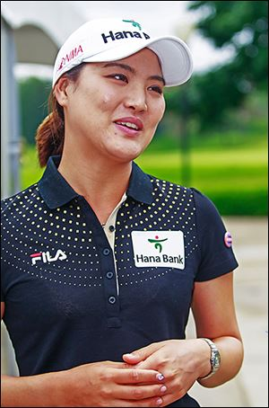 So Yeon Ryu returned Monday to Highland Meadows, where she won last year's LPGA event.