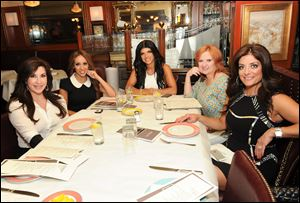 Cast members from Bravo's 'The Real Housewives of New Jersey,' from left, Jacqueline Laurita, Melissa Gorga, Teresa Giudice, Caroline Manzo, and Kathy Wakile at Bond 45 in New York.