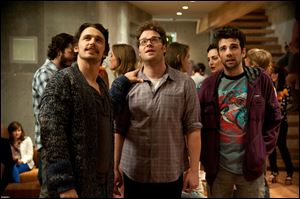 James Franco, left, and Seth Rogen in a scene from 'This Is The End.'