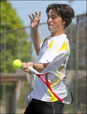 Jeffrey Schorsch of Perrysburg won the district singles title but lost in the second round at state.