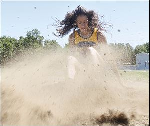 Whiteford junior Miranda Johnson won the Division 4 long jump title in Michigan for a second straight season. She also won the state title in the 200-meter dash and finished runner-up in the 100.