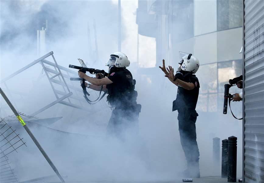Turkey-Protests-police-tear-gas