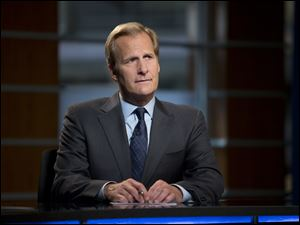 Jeff Daniels plays Will McAvoy, the news anchor in HBO's 'The Newsroom.'