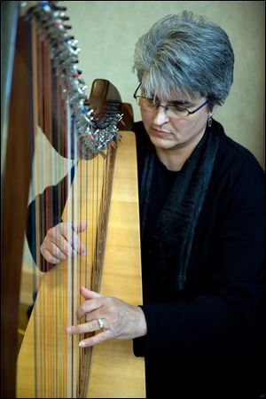 Denise Grupp Verbon is an organizer of the harp event and member of the Owens music faculty.