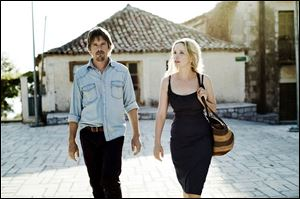 Ethan Hawke, left, and Julie Delpy, in a scene from the film,
